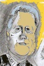 Cartoon: Bill Clinton (small) by higi tagged expresident usa