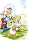 Cartoon: no discussion please (small) by higi tagged golf,golfball,cartoon,comic,golfgame,lineupverlag,sport