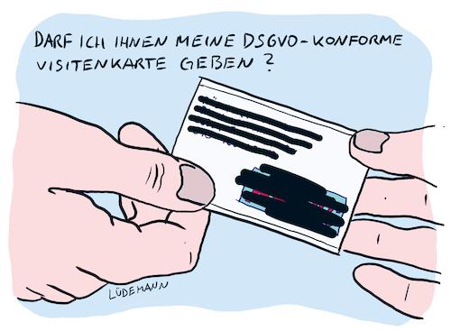 Dsgvo Konforme Visitenkarte Von Lüdemann Politik Cartoon