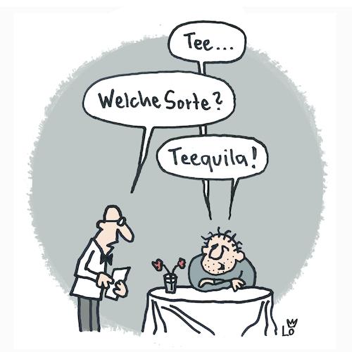 Cartoon: Teetrinker (medium) by Lo Graf von Blickensdorf tagged tee,teestube,herr,ober,tequila,alkohol,wortspiel,schnaps,betrunken,mann,bar,gesundheit,missverständnis,tee,teestube,herr,ober,tequila,alkohol,wortspiel,schnaps,betrunken,mann,bar,gesundheit,missverständnis