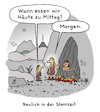 Cartoon: Hunger (small) by Lo Graf von Blickensdorf tagged steinzeit,neandertaler,mutter,kind,hunger,mittag,kannibalen,topf,feuer,haut,häute,grammatik,betonung,karikatur,lo,cartoon,deutsche,sprache,caveman,fleischesser
