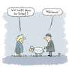 Cartoon: Name? (small) by Lo Graf von Blickensdorf tagged name,schaf,melanie,schäfer,mäh,vorname