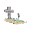 Cartoon: Selfie (small) by Lo Graf von Blickensdorf tagged selfie,grab,tod,tot,friedhof
