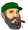 Cartoon: Fidel Castro Cartoon (small) by luyzk tagged cuba,fidel,casto,revolution,cigar