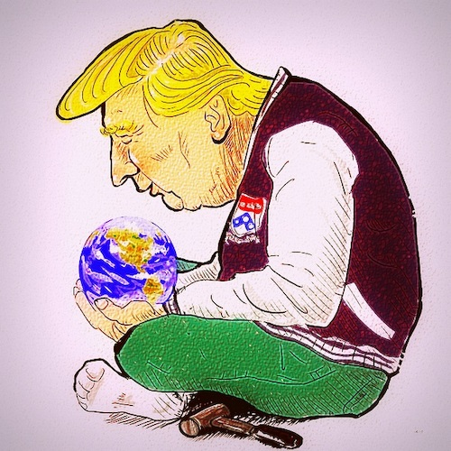 Cartoon: ecologyTrump (medium) by takeshioekaki tagged trump
