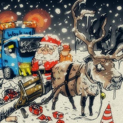Santa claus von takeshioekaki religion cartoon toonpool