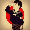 Cartoon: 1945 (small) by takeshioekaki tagged peace