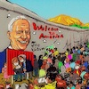 Cartoon: beyond the border (small) by takeshioekaki tagged joebiden