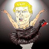 Cartoon: black swan theory (small) by takeshioekaki tagged trump