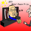 Cartoon: Nobel Peace Prize (small) by takeshioekaki tagged 3dtv,nobel,peace,prize