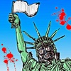 Cartoon: The Statue of Liberty (small) by takeshioekaki tagged ebola