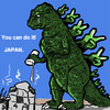 Cartoon: you can do it! (small) by takeshioekaki tagged godzilla japan