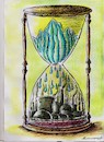 Cartoon: clock (small) by vadim siminoga tagged global,warming,ecological,destruction,nature,animals,factories
