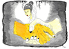 Cartoon: Child brides (small) by Orhan ATES tagged child,bride,girls,sell,sadness,overwhell,stop,money,humanity