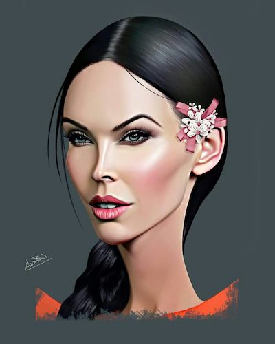 Cartoon: Megan Fox (medium) by Ahmed Mostafa tagged megan,fox