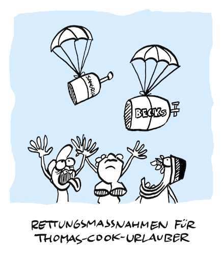 Cartoon: Kuck (medium) by Bregenwurst tagged thomas,cook,pleite,pauschaltourismus,rettung,sangria
