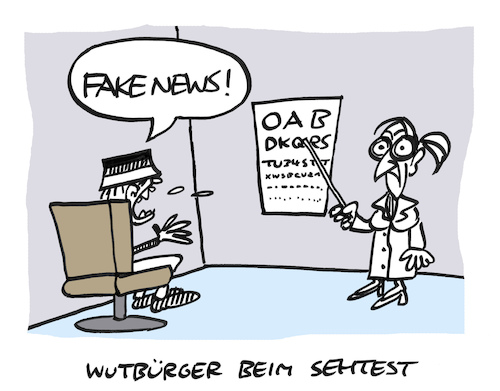Cartoon: Wuttest (medium) by Bregenwurst tagged wutbürger,fake,news,sehtest,zorn