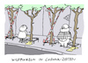 Cartoon: Pidemie (small) by Bregenwurst tagged coronavirus,pandemie,abstand,wildpinkeln,baum