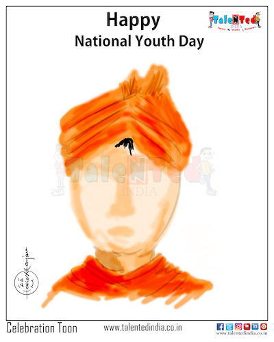 Cartoon: Cartoon On National Youth Day (medium) by Talented India tagged cartoon,talented,talentedindia,talentednews