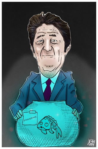 Cartoon: Japan could discharge the Fukush (medium) by Christi tagged jean,fukushima