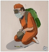 Cartoon: Guantanamo in francia (small) by Christi tagged francia,gilet,gialli