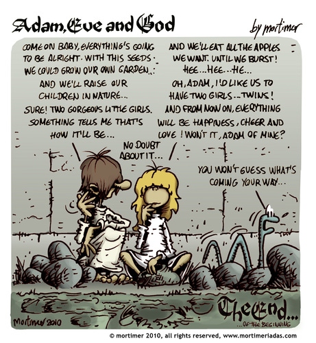 Adam Eve and God 48