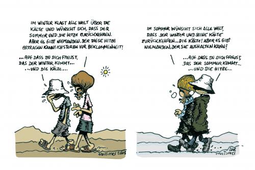 Cartoon: Eine wundervolle Welt (medium) by mortimer tagged mortimer,mortimeriadas,cartoon