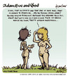 Cartoon: adam eve and god 07 (small) by mortimer tagged mortimer,mortimeriadas,cartoon,comic,gag,adam,eve,god,bible,paradise,eden,biblical,christian,original,sin,sex,nude,toons,hairy,belly,blonde
