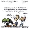 Cartoon: un mundo maravilloso 125 (small) by mortimer tagged mortimer,mortimeriadas,cartoon,un,mundo,maravilloso,evolution,involution,mankind,girls,kids,chiste,derechos,vegetales,planta,maceta,liberacion,vegetal,environment,medioambiente,medioambiental,ecologia,ecologista,ecologist,bonsai,torture,tortura