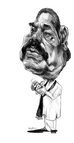 Cartoon: Mahinda Rajapaksa (medium) by Sajith Bandara tagged mahinda,rajapaksa
