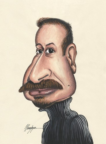 Cartoon: Hicabi Demirci (medium) by menekse cam tagged hicabi,demirci,turkish,cartoonist,menekse,portrait,caricature