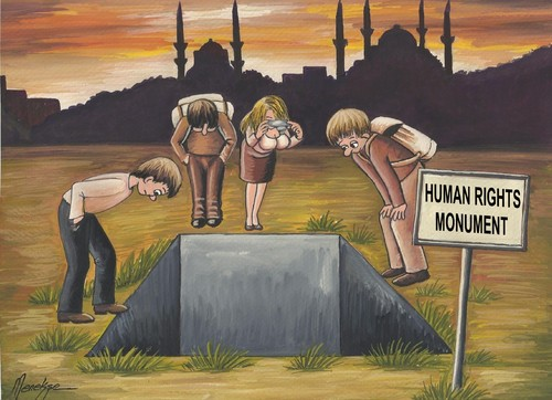 Cartoon: Human Rights Monument (medium) by menekse cam tagged rechte,menschlichen,denkmal,türkei,menschen,frauen,männer,regierung,politische,politik,skulptur,touristische,tourist,image,sculpt,statue,sculpture,politic,political,government,akp,men,women,people,turkey,monument,rights,human,menschenrechte,türkei,monument