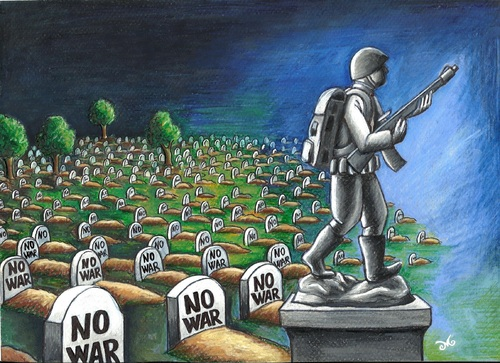 Cartoon: NO WAR! (medium) by menekse cam tagged gravestone,grave,sculpture,cemetery,turkey,syria,soldiers,army,civilian,life,death,peace,war,war,peace,death,life,civilian,army,soldiers,syria,turkey,cemetery,sculpture,grave,gravestone