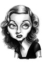 Cartoon: Bette Davis (small) by menekse cam tagged ruth elizabeth bette davis american actress film television theater hollywood romantic drama academy awards oscar
