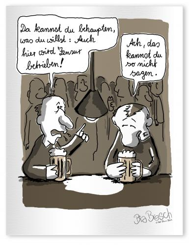 Cartoon: Zensur (medium) by diebia tagged zensur,kneipe,bier