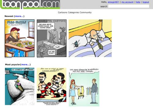 Cartoon: the 1st toonpool.com layout! (medium) by max tagged toonpool,design,layout,first,try
