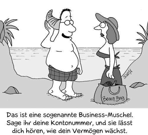 Strand comic schwarz weiß  Am Strand von Karsten   Medien & Kultur Cartoon   TOONPOOL