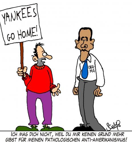 Cartoon: Anti - Amerikanismus (medium) by Karsten tagged usa,politik,obama