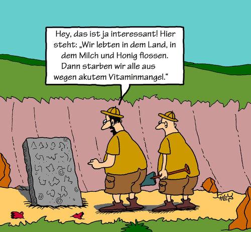 Cartoon archäologie medium by karsten tagged ernährung gesundheit