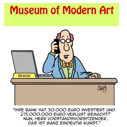 DAS ist WAHRE Kunst!! von Karsten | Wirtschaft Cartoon | TOONPOOL