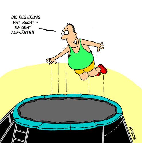 Es geht aufwärts! von Karsten | Politik Cartoon | TOONPOOL