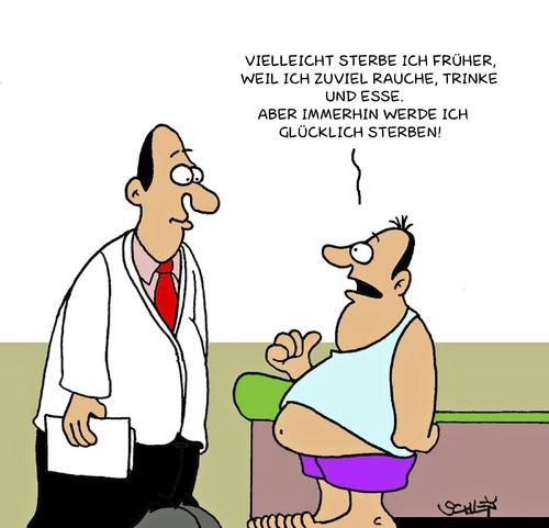 Glücklich von Karsten | Philosophie Cartoon | TOONPOOL