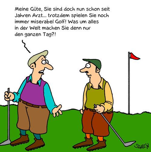 Cartoon golf medium by karsten tagged gesundheit gesellschaft