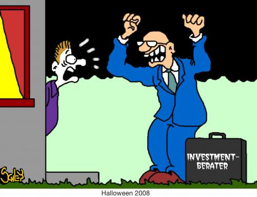 Cartoon: Halloween 2008 (medium) by Karsten tagged märkte,business,wirtschaft,finanzen,finanzkrise