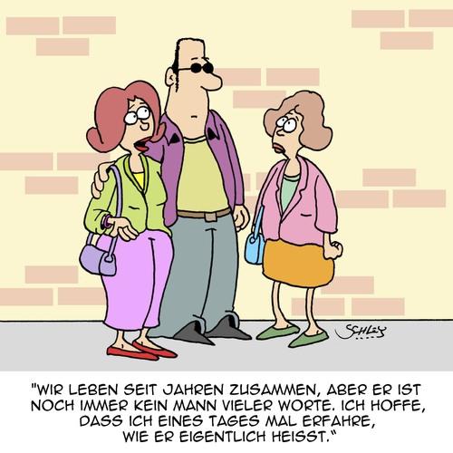 Kann er schon sprechen? von Karsten | Liebe Cartoon | TOONPOOL
