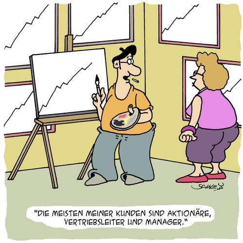 Tagged kunst wirtschaft business aktien aktionäre verkäufer manager