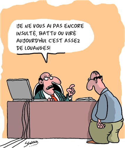 Cartoon: Louanges (medium) by Karsten tagged carriere,bureau,superieurs,personnel,direction,carriere,bureau,superieurs,personnel,direction