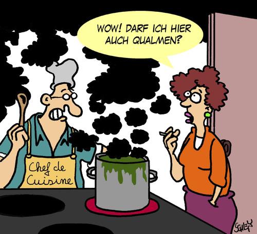 Cartoon qualm medium by karsten tagged kochen ernährung gesundheit