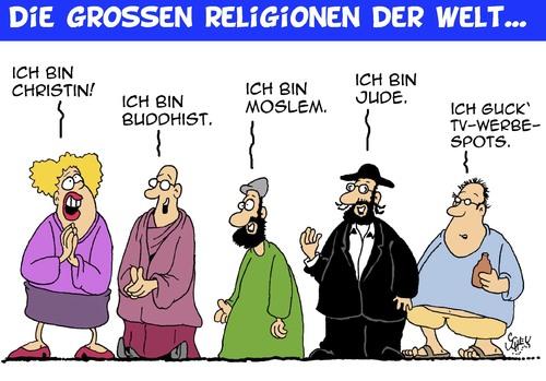 Religionen der Welt von Karsten | Religion Cartoon | TOONPOOL