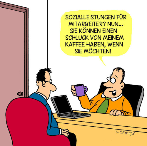 Cartoon sozial medium by karsten tagged wirtschaft business